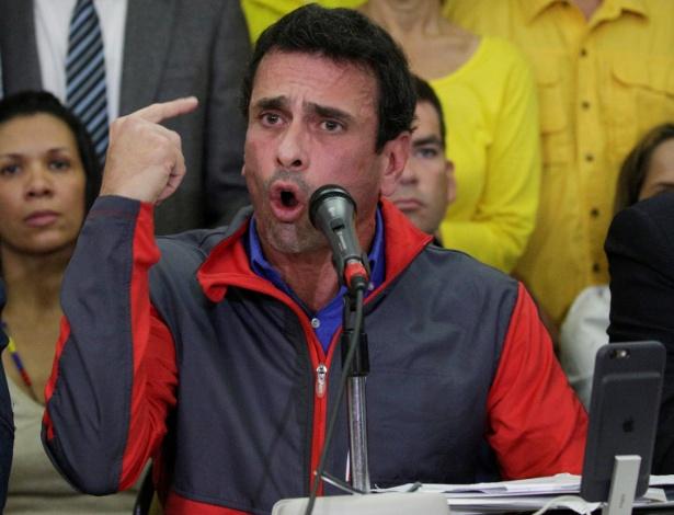Ex-candidato presidencial venezuelano Henrique Capriles negou acordo