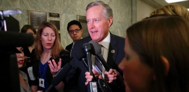 Mark Meadows, líder do Caucus da Liberdade (Freedom Caucus) do Partido Republicano