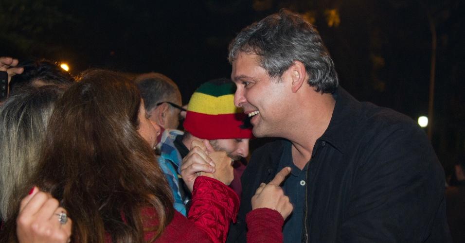 20.jun.2017 - Lindenberg ato pró Lula