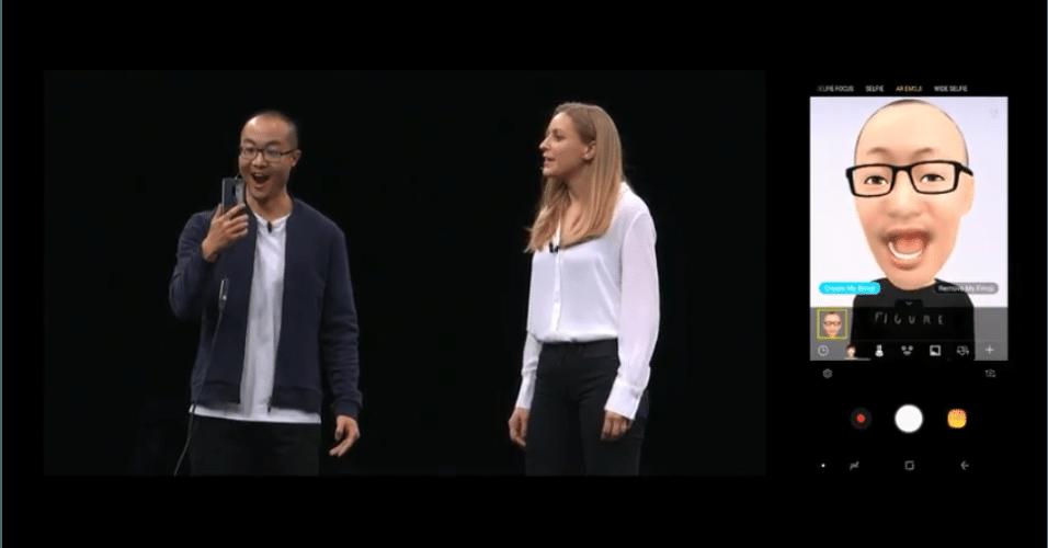 O S9 e o S9 Plus permitem criar emojis 3D com a cara e as expressões dos usuários.