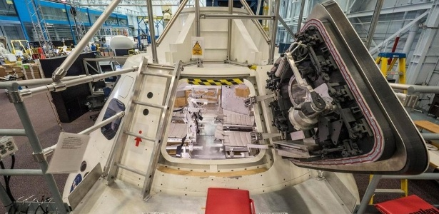 A Nasa já construiu maquetes para simular como será o interior da cápsula Orion