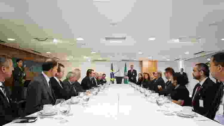 Jair Bolsonaro em café da manhã com jornalistas - Marcos Corrêa/Presidência da República - Marcos Corrêa/Presidência da República