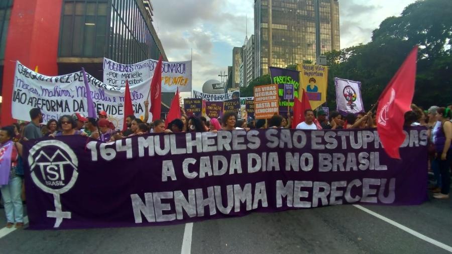 Ato na Avenida Paulista (SP) pelo Dia Internacional da Mulher, em 2019 - Ana Carla Bermúdez/UOL