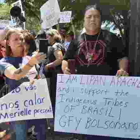 Membro do povo indígena americano Lipan Apache, Leroy Daniel diz que Bolsonaro quer entregar terras de índios brasileiros a empresas - João Fellet/BBC News Brasil