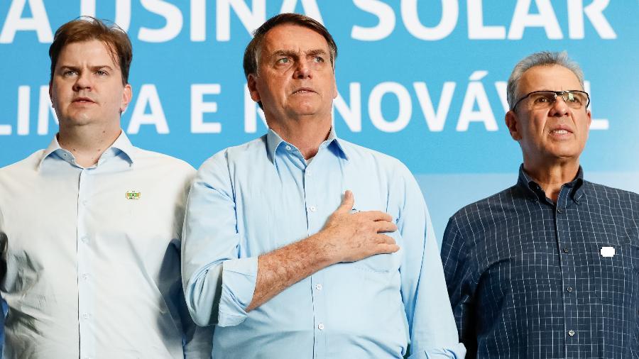 5.ago.2019 - Jair Bolsonaro participa de inauguração de usina em Sobradinho (BA) - Alan Santos/Presidência da República