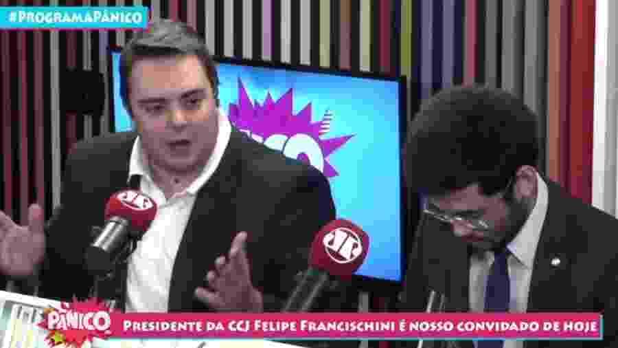 Felipe Francischini participou de entrevista do programa Pânico - Reprodução/Jovem Pan