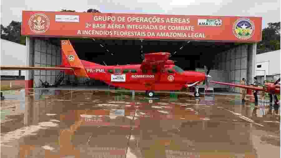 Avião custou R$ 12 milhões e foi entregue em dezembro do ano passado à 2° Base Aérea Integrada de Combate a Incêndios Florestais da Amazônia Legal em Porto Velho - Corpo de Bombeiros de Rondônia