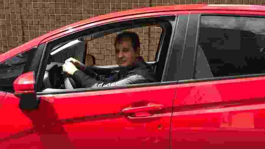 O ex-vereador Moamed Rachid (PTB) hoje trabalha como motorista de aplicativo - Arquivo Pessoal
