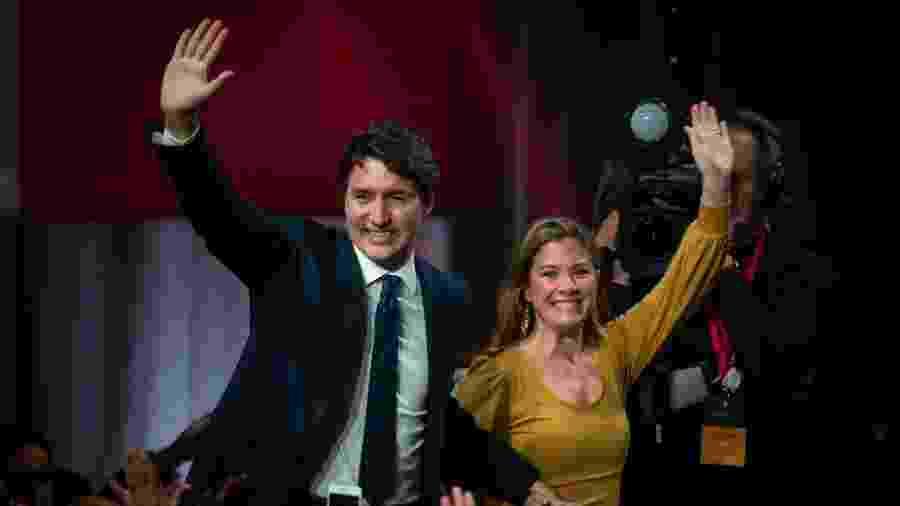 Justin Trudeau, primeiro-ministro do Canadá, e a esposa Sophie Grégoire - Sebastien St-Jean/AFP