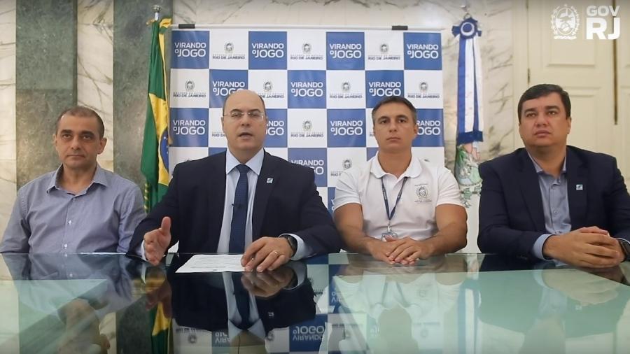 O governador Wilson Witzel gravou vídeo para anunciar decreto que proibiu manifestações no Rio - Reprodução / Youtube