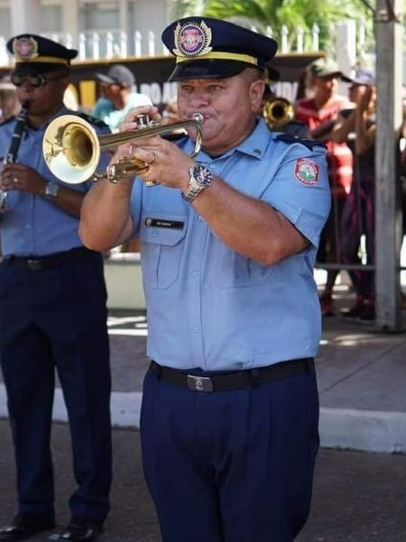 Maestro Siney Saboia de Moura, da banda da Guarda Municipal de Macapá - Reprodução/Facebook