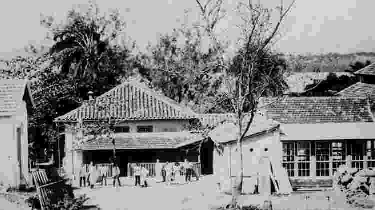 Fazenda de Manguinhos, no Rio - Acervo Casa de Oswaldo Cruz - Acervo Casa de Oswaldo Cruz