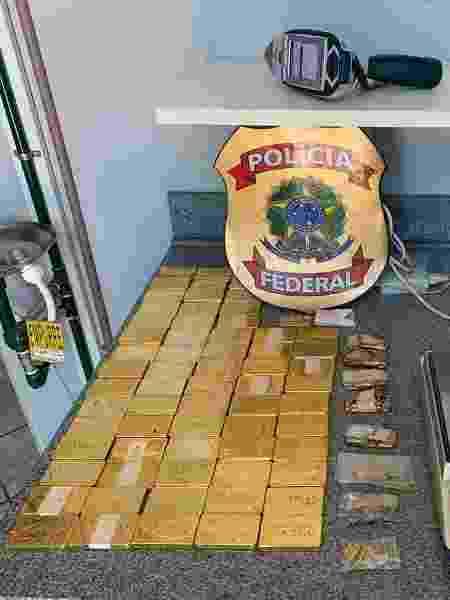 Barras de ouro apreendidos durante operação da PF no Pará contra o garimpo ilegal - Divulgação/PF - Divulgação/PF