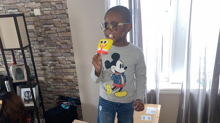 Noah, de 4 anos, comprou muitos picolés do personagem Bob Esponja - Reprodução/GoFundMe
