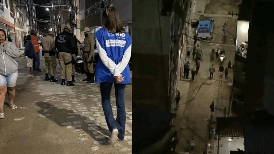 Moradores abandonaram prédio na Muzema, no Rio de Janeiro, após ouvirem estalos e perceberem rachaduras nas paredes  - Reprodução Instagram/TV Globo