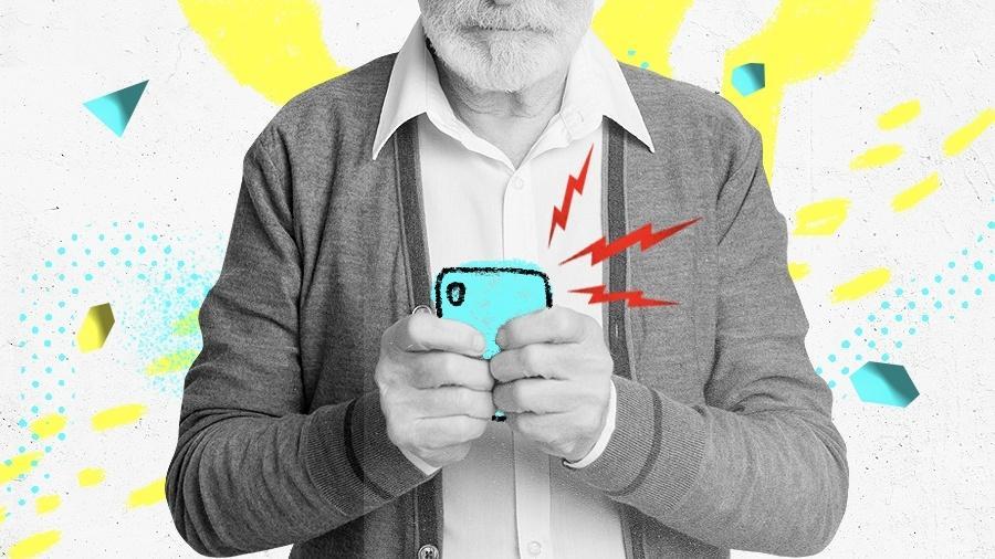 Celular para idoso: veja os principais modelos - Arte UOL