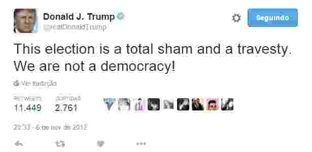 Reprodução/Twitter @realDonaldTrump