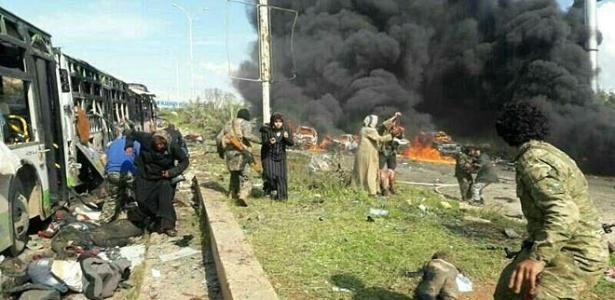 Ataque contra combio na Síria matou pelo menos 125 pessoas