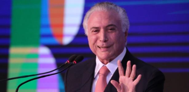 19.dez.2017 - O presidente Michel Temer participa de evento no Palácio do Planalto, em Brasília