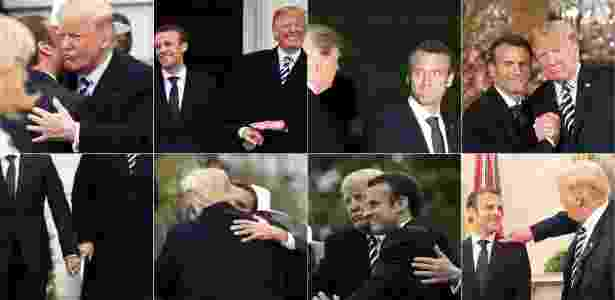 Momentos da visita de Emmanuel Macron a Donald Trump - AFP Photo - AFP Photo