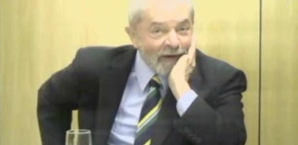 O ex-presidente Luiz Inácio Lula da Silva presta depoimento ao juiz Marcelo Bretas - Reprodução