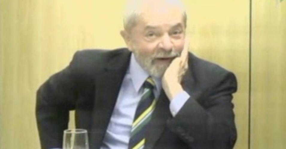 O ex-presidente Luiz Inácio Lula da Silva presta depoimento para o juiz Marcelo Bretas,
