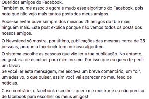 Não caia nessa: Facebook não vai limitar o feed a postagens de 25 amigos (Foto: Reprodução)