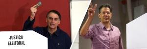 TSE nega direito de resposta a Bolsonaro contra Haddad por propaganda na TV (Foto: Arte UOL)