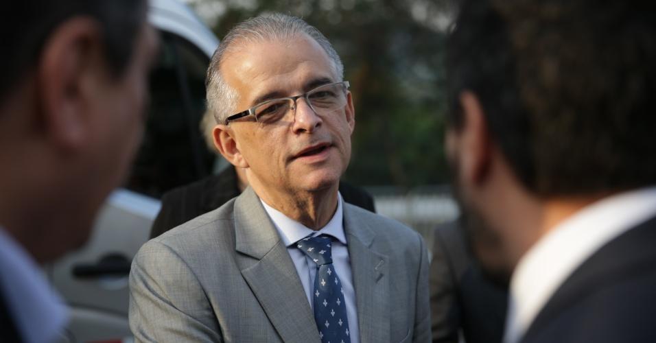 23.out.2018 - Debate de segundo turno entre os candidatos ao governo do estado de São Paulo, João Doria e Márcio França, realizado pela Folha de S.Paulo, UOL e SBT