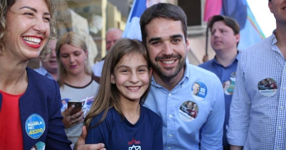 Eduardo Leite (PSDB), candidato ao governo do Rio Grande do Sul, em campanha