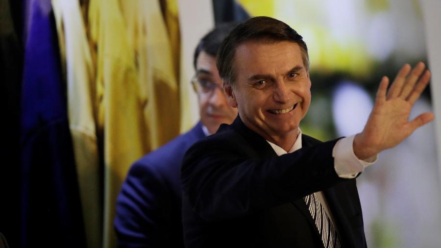 19.02.2019 - Jair Bolsonaro participa da posse do deputado federal Alceu Moreira como presidente da FPA (frente Parlamentar da Agricultura) - Uéslei Marcelino/Reuters