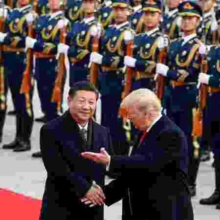 Donald Trump, presidente dos EUA, em encontro com Xi Jinping, presidente da China - Damir Sagolj/Reuters