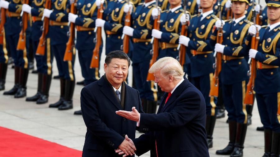 Donald Trump, presidente dos EUA, encontra Xi Jinping, presidente da China - Damir Sagolj/Reuters