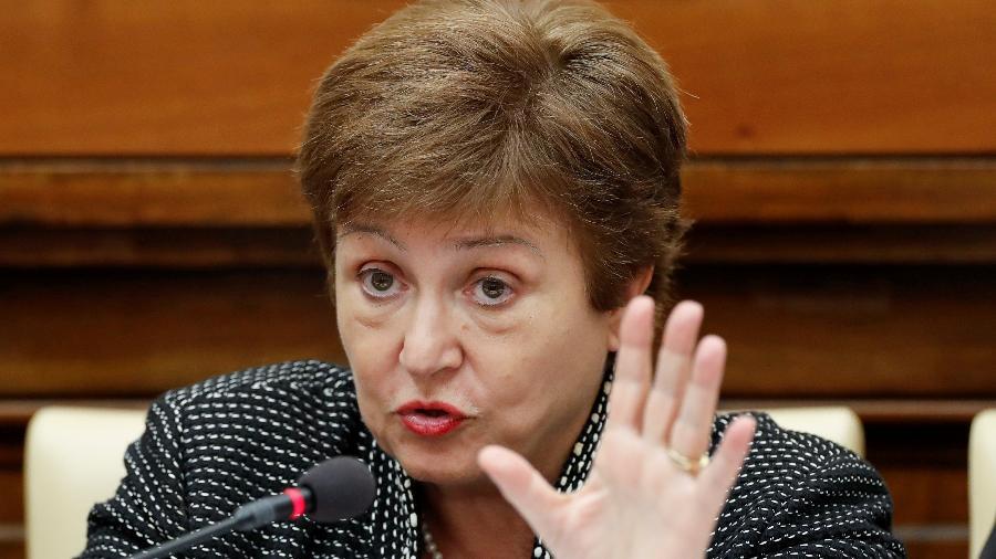 Diretora-gerente do FMI, Kristalina Georgieva, ponderou que a pandemia continua limitando a recuperação econômica mundial - Remo Casilli