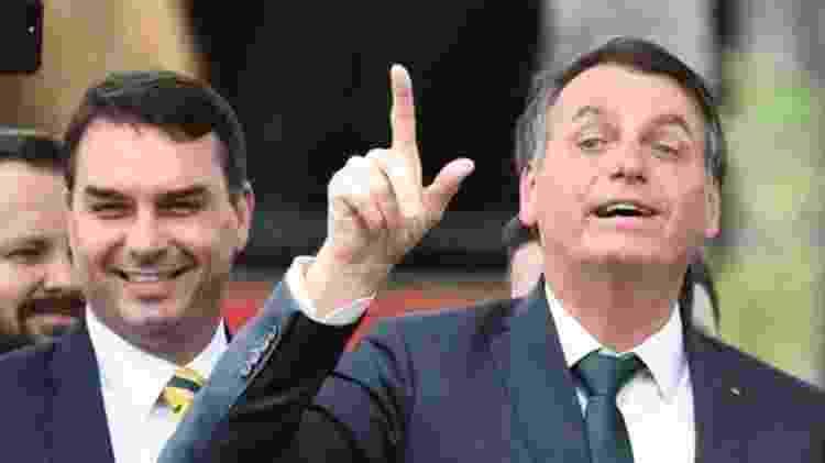O parentesco de Flávio Bolsonaro com o presidente Jair Bolsonaro deu destaque para as investigações - AFP - AFP
