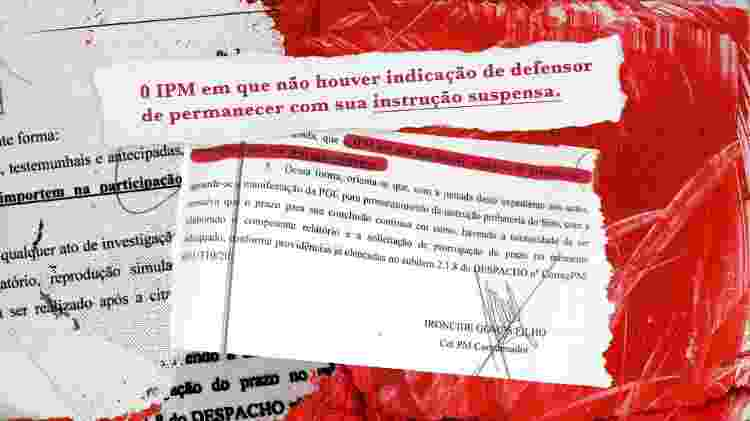 """O coronel Ironcide Gomes Filho, chefe do departamento jurídico da PM, determinou em maio de 2020: """"o inquérito que não houver indicação de defensor deve permanecer com sua instrução suspensa"""" - UOL - UOL"""