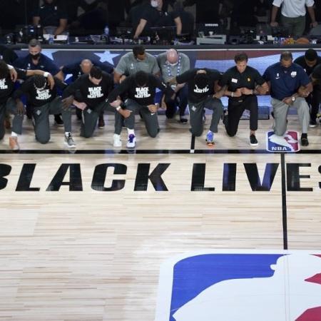 Jogadores da NBA resolveram seguir com os playoffs da liga - Ashley Landis