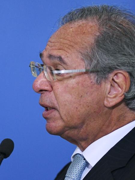 O ministro da Economia, Paulo Guedes, é investigado sob acusação de envolvimento em fraudes em fundos de pensão - Edu Andrade/Ascom/ME