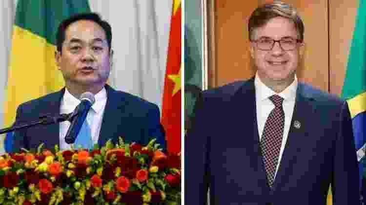 Os embaixadores Yang Wanming e Todd Chappman: pressão de ambos os lados - Ag. Brasil/Presidência - Ag. Brasil/Presidência
