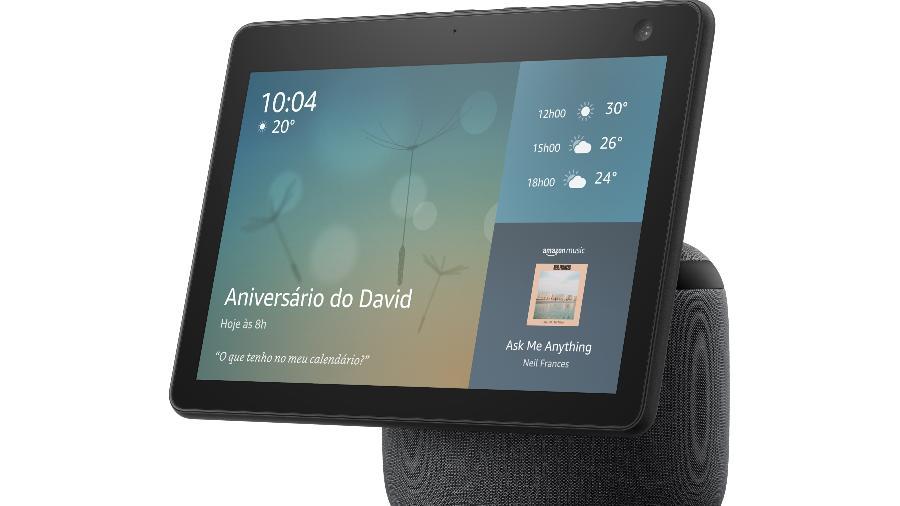 Amazon Echo Show 10, com a assistente virtual Alexa - Amazon/Divulgação