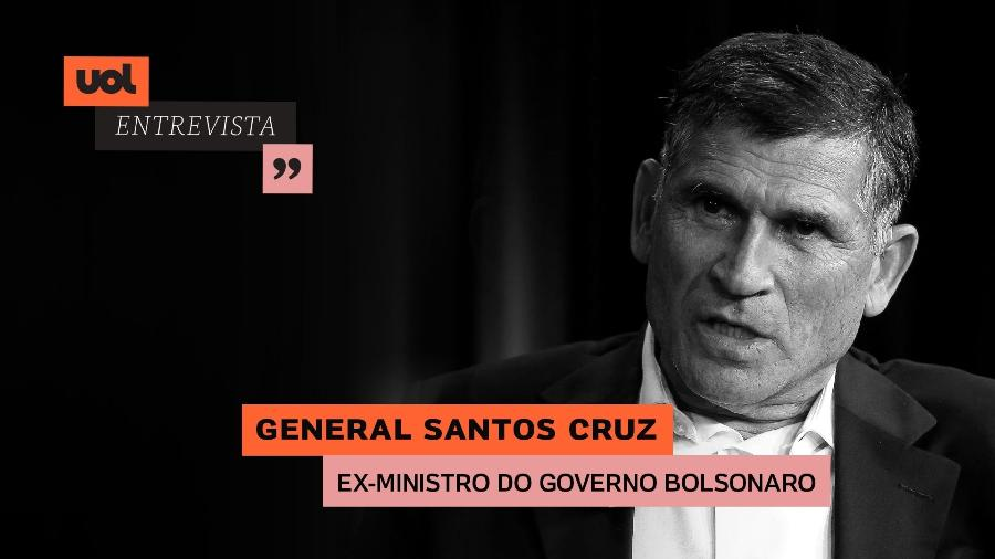 General Santos Cruz no UOL Entrevista (28/05) - Arte/UOL