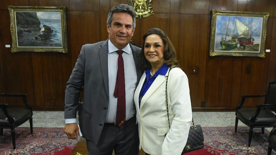 Ciro Nogueira e Eliane Nogueira (PP-PI), durante cerimônia de posse dela no Senado - Jefferson Rudy/Agência Senado