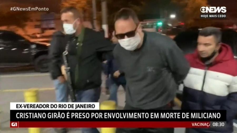 Cristiano Girão foi preso na última sexta-feira em São Paulo - Reprodução/Globonews