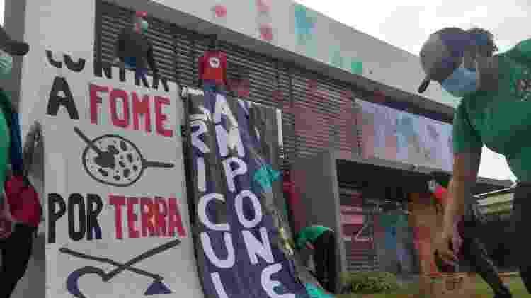 Manifestantes invadem a sede do Aprosoja em Brasília - Divulgação/Via Campesina Brasil - Divulgação/Via Campesina Brasil