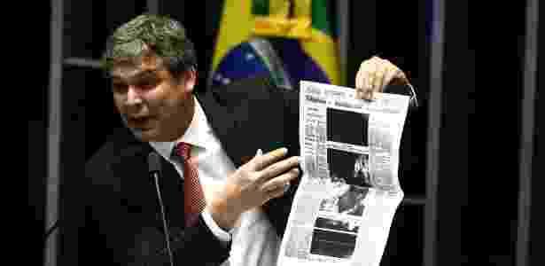 Lindbergh Farias (PT-RJ) foi escolhido como líder da minoria no Senado - Wilton Jr./Estadão Conteúdo
