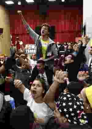 Em junho, estudantes comemoraram a abertura da CPI da Máfia da Merenda, na Alesp - Márcio Fernandes/Estadão Conteúdo