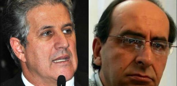 João Leite (PSDB), à esquerda, e Alexandre Kalil (PHS), à direita, duelam no 2º turno