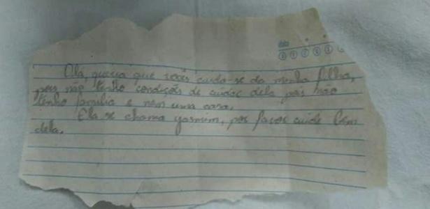 Com bilhete, criança recém-nascida foi deixada em frente a uma casa em Penápolis (SP)