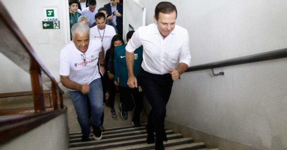 """06.abr.2017 - """"Fui eleito para cumprir quatro anos em São Paulo, esse é o meu desafio. A melhor contribuição que posso dar à democracia é ser um bom prefeito"""""""