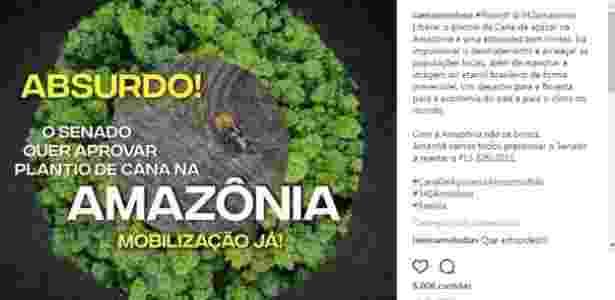 amazônia - Reprodução/Instagram - Reprodução/Instagram